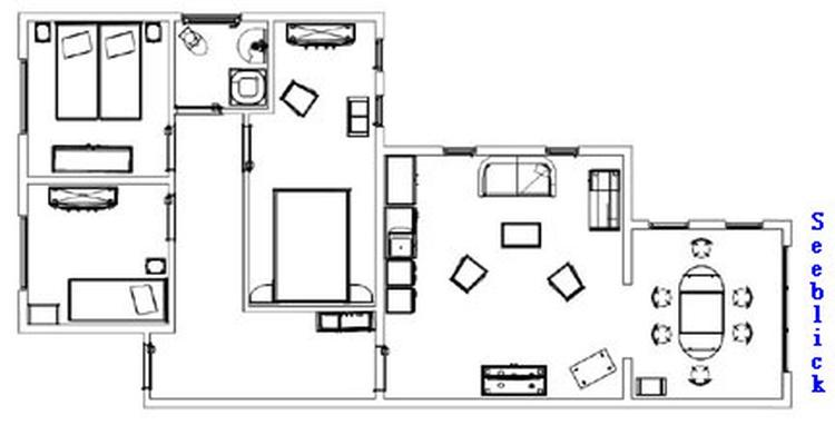 Grundrissplan Wohnung Leuchtturm