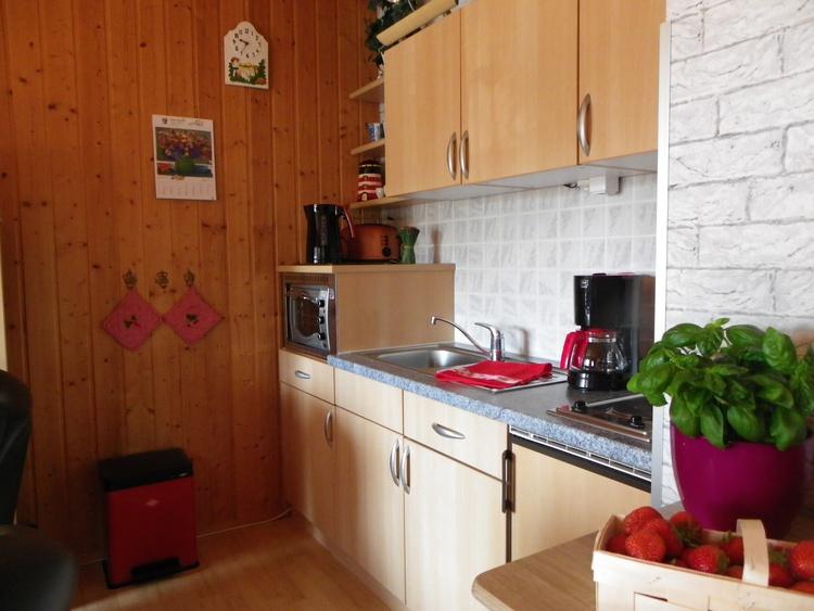 Küchenzeile mit viel Ausstattung