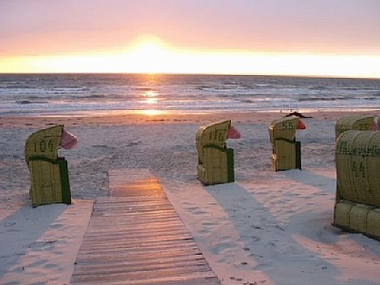 Abendstimmung Strand gegenüber Casa Strandmusche