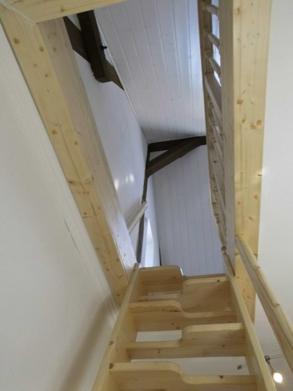Stair => under the roof