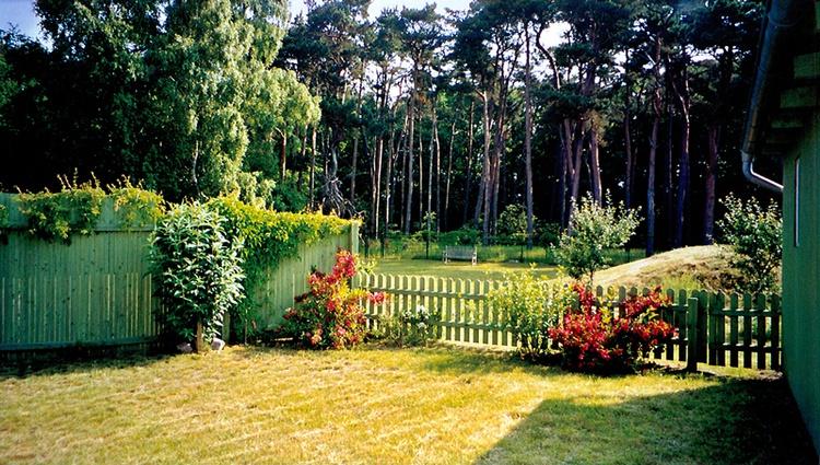 Blich aus dem Garten (Terrasse)