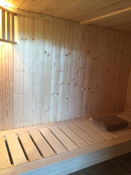 Finnische Sauna im Erdgeschoß