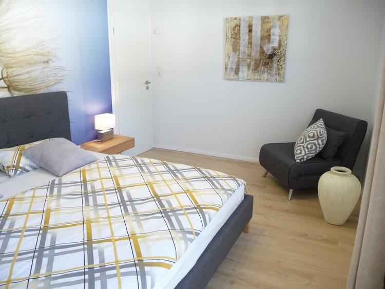 Schlafzimmer 3 (mit Schlafsessel ca. 85x185)